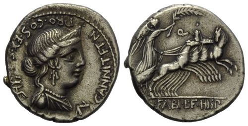 Roman Republic, C. Annius and L. Fabius, AR Denarius