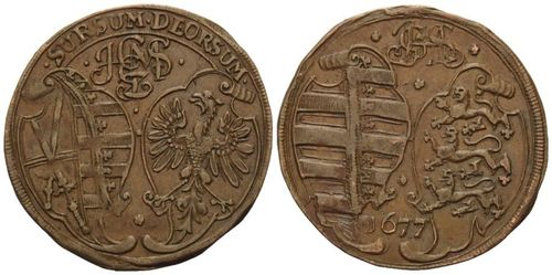 Saxony, Jeton 1677, so called Rechenpfennig