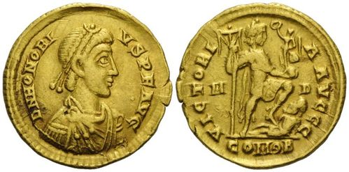 Roman Empire, Honorius, AV Solidus