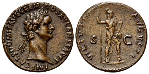 Roman Empire, Domitian, AE As