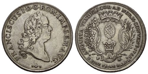 Augsburg, Coventionsthaler 1765 FAH